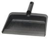 """Plastic Dustpan Flexible Black 12"""" x 8"""" Flo-Pac"""