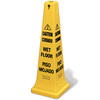 Safety Cone, 36 in, Caution Wet Floor, Multi-Lingual