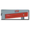 Full Extension Drawer, Red, 57-7/8 x 19.2 x 33.3 in, Utility Carts, Single