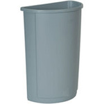 Untouchable®, Waste Container, 21 gal, Gray
