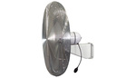 Washdown Fan Head Only, Aluminum, 24 in, 2, 120 V, 5200 CFM, 1/3 HP, Totally Enclosed, 4:00 AM, Single, SJT Type 3-Conductor, 5 ft, UL 507 Spray Test, USDA, Permanently Lubricated Ball Bearings, Built-In Thermal Overload Protection, Permanent Split Capacitor Motor