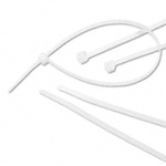 Cable Tie, Standard, Nylon 6/6, Natural, 7.5 in, 0.177 in, 0.05 in, 7.5 x 0.177 x 0.05 in, 1-3/4 in, -40 to +185 °F, 50 lbs, UL 94 V2, MS-3367-1-9, 100 per Bag, 1000 per Case, High Impact, Non-Corrosive