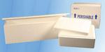 Foam Cooler, EPS Foam, 19-1/2 x 12-1/2 x 12-1/2 in, Corrugated Box, 53 qt
