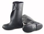 Plain Toe Overshoe, PVC, Plain, Pull-On, Black