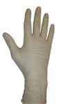 "Disposable Gloves, Clear, Latex, Smooth , 5 mil, Yes, Large, Ambidextrous, Rolled Beaded, Industrial, 9.5"", No, ASTM D3578/EN455, 100 Gloves per Box