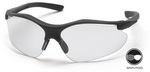Safety Glasses, Polycarbonate, Clear, Anti-Fog Scratch-Resistant, Framed, Black