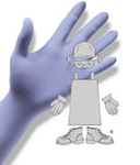 Disposable Gloves, Blue, Nitrile, Smooth, 6 mil, Powder Free