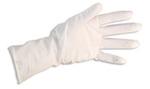 Disposable Gloves, Cream, Natural Latex Rubber, Sterile, 7.5