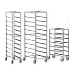 Aluminum End Loading Platter Cart, 10 Tray Capacity