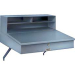 Wall-Mounted Receiving Desk, Steel, 22 in, 12 in, 24 in