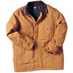 Insulated Coat, Polyester, Brown, Zipper Front with Snap Closure