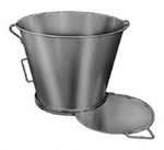 Dump Bucket, Stainless Steel, 400 lbs
