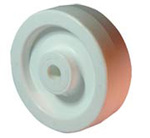 Molded Wheel, 2 in, 700 lbs, Polyolefin, White