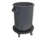 Gator®, Round Container, 32 gal, Blue, Round