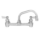 Kitchen Faucet, Wall Mount / Backsplash, 14 in, Swing Spout