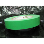 Warning / Flagging Tape, Pressure-Sensitive Vinyl, Light Green, 1 in, 36 yds