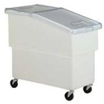 Sloped Front Mobile Bin, 25 gal, 30-1/2 L x 16-1/2 W x 27-1/2 H in, High-Density Polyethylene, White, 30-1/2 in, 16-1/2 in, 27-1/2 in, Food Service, Bakery Equipment, USDA Approved