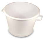 STANCASE 75 All Purpose Tub, Polyethylene, 70, 100, 150 lbs, White