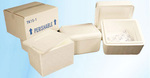 Foam Cooler, EPS Foam, 11-3/8 x 10-3/8 x 8-1/2 in, 17.4 qt