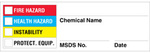 Chemical Hazard Warning Labels, NFPA, Adhesive, 250/roll