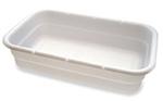 "Food Handling White Box Tote Polyethylene 24"" L x 12.5"" W x 4"" H"