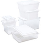 Food / Tote Box, Polycarbonate, White, 2 gal