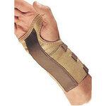 Wrist Brace with Palm Stay, Hook & Loop, Beige, Elastic, Left Hand, Medium