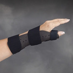 Liberty, Thumb Support, Trilaminate Foam, 9 in, 3-1/4 to 4 in, Black Gray, Medium / Large