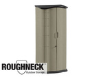 Roughneck®, Storage Shed, Plastic, Faint Maple / Onyx