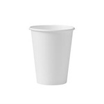 Solo®, Hot Cup, White, Paper, 12 oz, 50 per Bag|1000 per Case