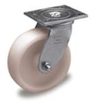 Medium / Heavy-Duty Rigid Plate Caster with 5-inch Polyolefin Wheel
