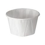 Solo®, Cold & Hot Cup, White, Paper, 3.25 oz, 250 per Bag|5000 per Case