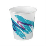 Solo®, Cold Cup, White, Paper, 3 oz, Jazz, 100 per Bag|5000 per Case