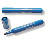 Hi-Lighter Pen, Chisel, Blue, Blue, Metal Detectable, 10 per Box