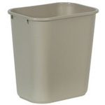 Rubbermaid RCP295600 Deskside Wastebasket, 28-1/8-Quart