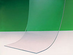 Door Strip, PVC, Clear, 6 in, 400 ft