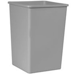 Untouchable®, Waste Container, 35 gal, Gray
