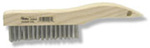Scratch Brush, Stainless Steel, Hardwood, 10 in