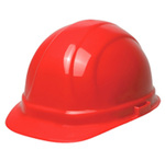 Omega II® 19134 Front Brim Hard Hat, Red, 6 1/2 to 8 in