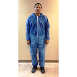 PolyLite®, Coverall, Spun Bond Polypropylene, Blue, 5X-Large, Elastic