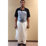 Raw Edge Apron, Vinyl, Clear, Universal, 48 in, 35 in, 6 mil