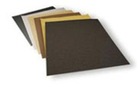 Emery Paper Sheet, Aluminum Oxide, 11 in, 9 in, P80, 25 per Pack|5 Packs per Case