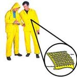 Rain Bib Trouser, Polyurethane on Nylon, Yellow, Snap