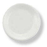 Boardwalk®, Disposable Plate, Round, Non-Laminated Foam, White, 6 in, Styrofoam
