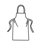 U2510 Disposable Apron, Polypropylene/Polyethylene, White, 36 in 28 in, Universal