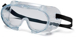 Safety Goggle, Polycarbonate, Clear, Scratch-Resistant, Frameless