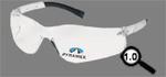 Magnifying Safety Reader, Polycarbonate, Clear, Scratch-Resistant, Framed, Black