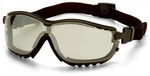 Safety Glasses, Polycarbonate, Indoor / Outdoor Clear Mirror, Anti-Fog Scratch-Resistant, Framed
