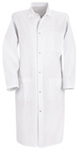 Frock, Spun-Polyester, White, Gripper Front, Large