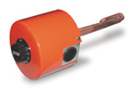 Heating Element, 240 V, Copper, 1000 W, 6 in, 1 in. NPT Threaded Fitting, Thermostat, Auto Shut-Off, Control Knob